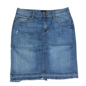 GAP Denim Mini Skirt with Raw Hem Distressed 10